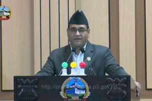 लुम्बिनीकाे बजेटः मुख्यमन्त्री ग्रामीण विकास र निर्वाचन क्षेत्रको कार्यक्रम खारेज