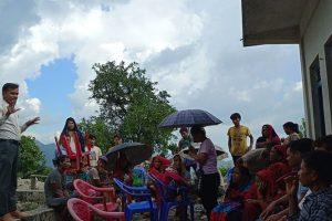 नेकपा माओवादी केन्द्रको श्रीडाँडामा पार्टी प्रशिक्षण