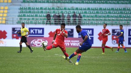नेपाल र भारत मैत्रीपूर्ण खेल १-१ को बराबरीमा टुङ्गियो